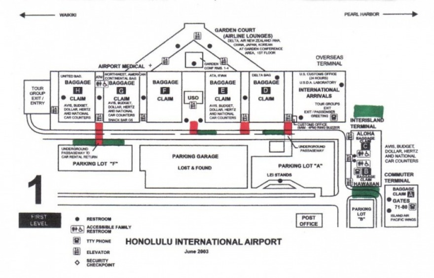 Honolulu Airport Departures Map Arrivals   Kailua Airport Shuttle Express Honolulu Airport Shuttle